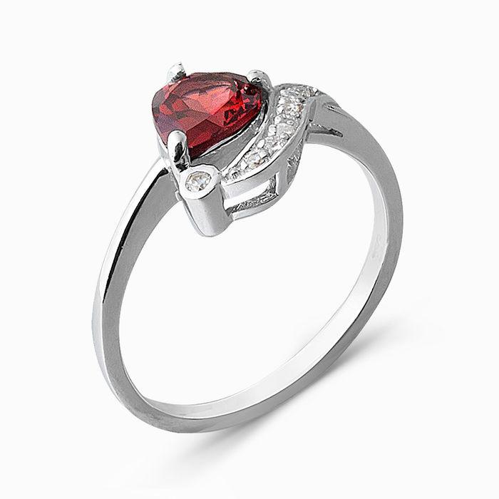 Серебряное кольцо Гранат и Фианит арт. 05349 05349