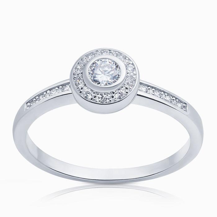 Серебряное кольцо Фианит арт. 04321 04321