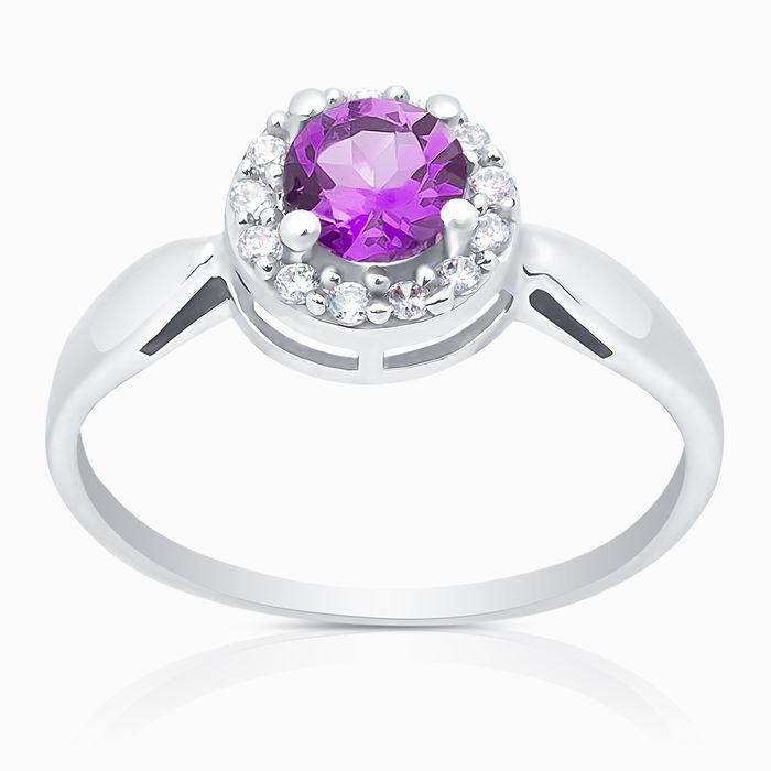 Серебряное кольцо Аметист и Фианит арт. 05335 05335