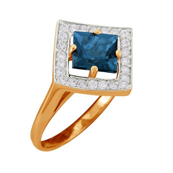 Золотое кольцо Аметист и Фианит арт. 1320924 1320924
