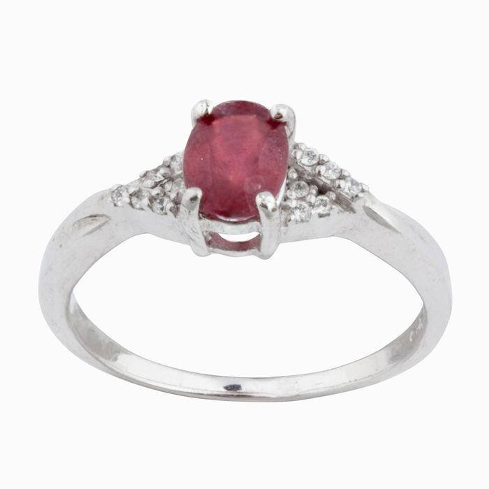 Серебряное кольцо Рубин и Фианит арт. 05655 05655
