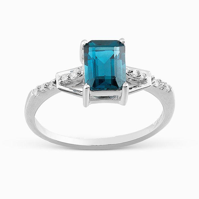 Серебряное кольцо Топаз и Фианит арт. 05721 05721