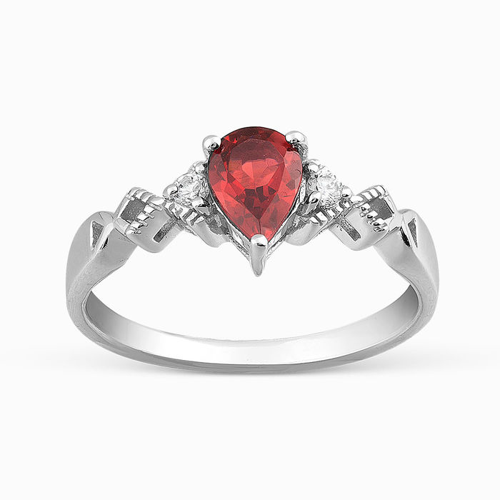 Серебряное кольцо Гранат и Фианит арт. 05674 05674