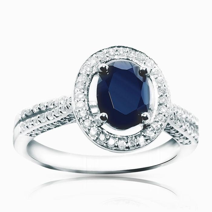 Серебряное кольцо Сапфир и Фианит арт. 01699 01699