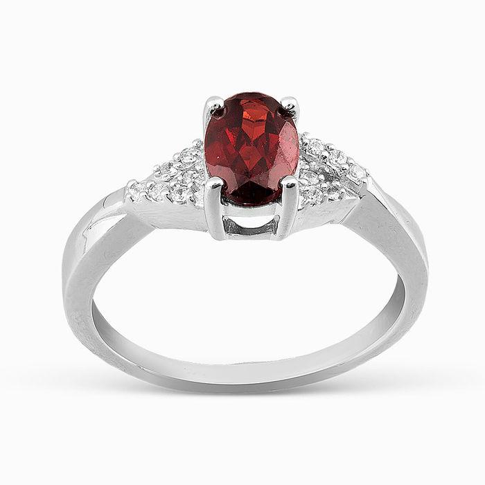 Серебряное кольцо Гранат и Фианит арт. 05661 05661