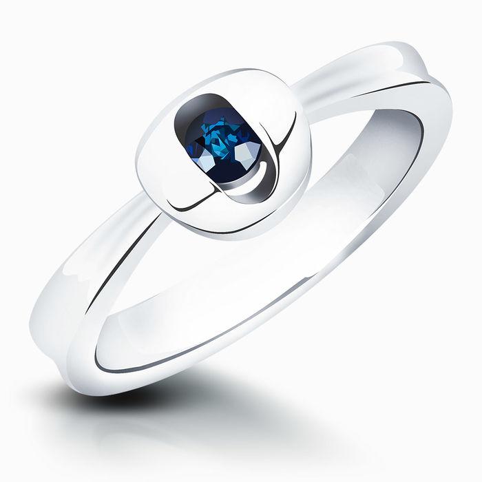 Серебряное кольцо Сапфир арт. 01038 01038