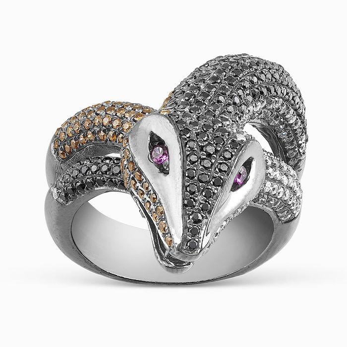 Серебряное кольцо Рубин и Фианит арт. 05701 05701