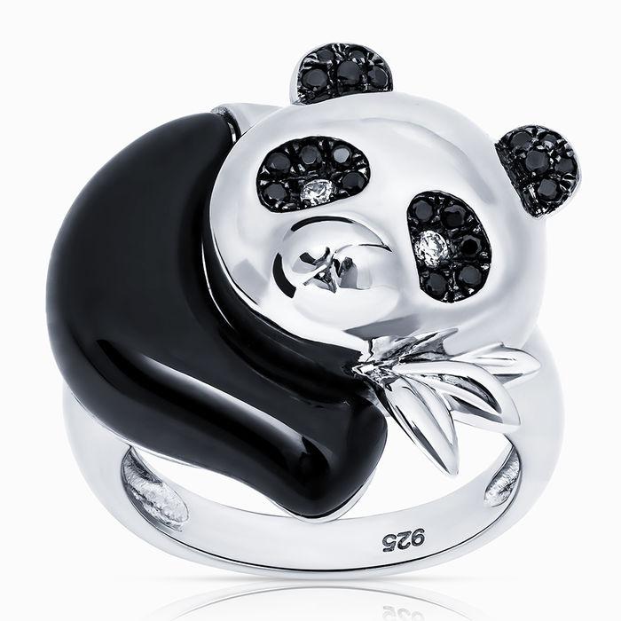 Серебряное кольцо Оникс и Фианит арт. 05556 05556