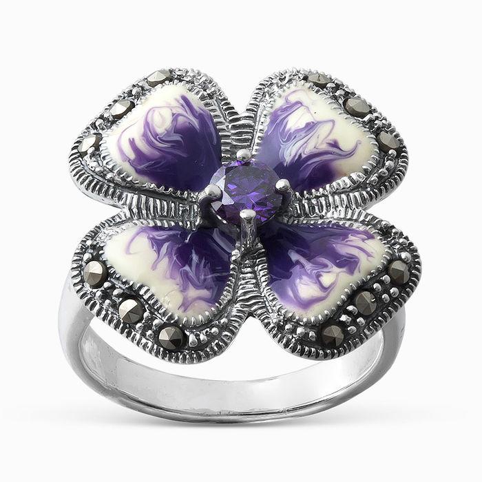 Серебряное кольцо Прочие, Фианит и Эмаль арт. 05594 05594