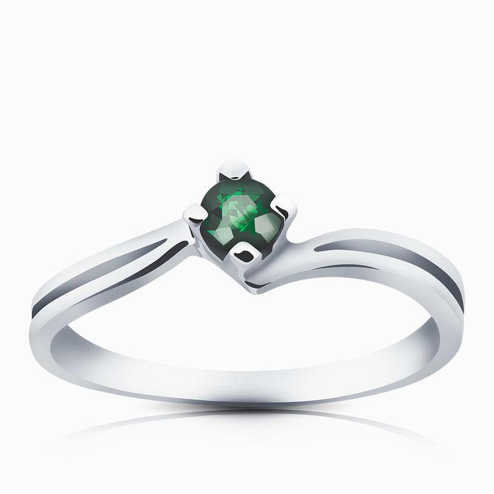 Серебряное кольцо Изумруд арт. 00192 00192