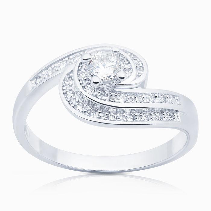 Серебряное кольцо Фианит арт. 04318 04318