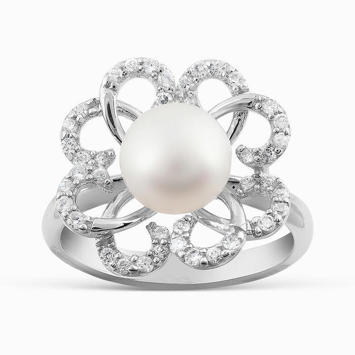Серебряное кольцо Жемчуг и Фианит арт. 05787 05787