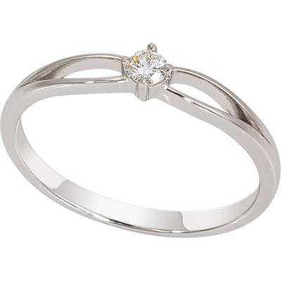 Помолвочное кольцо из белого золота с бриллиантом Бриллиант арт. 1018831-21240 1018831-21240