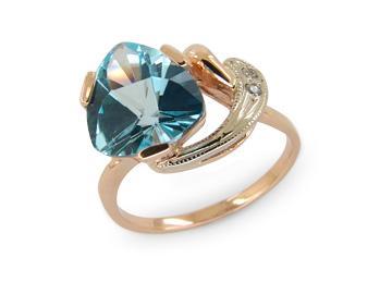Золотое кольцо Топаз и Фианит арт. 1180846 1180846