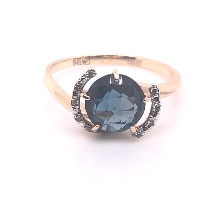 Золотое кольцо Топаз и Фианит арт. 1180272тл 1180272тл