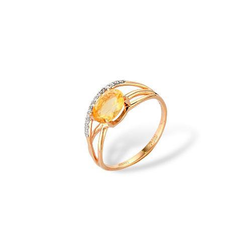 Золотое кольцо Гранат и Фианит арт. 1180556 1180556