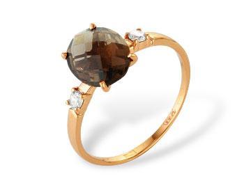 Золотое кольцо Гранат и Фианит арт. 1180287 1180287