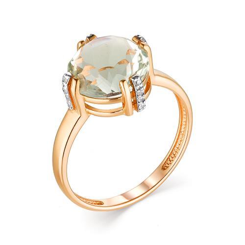 Золотое кольцо Оникс и Фианит арт. 1180148 1180148