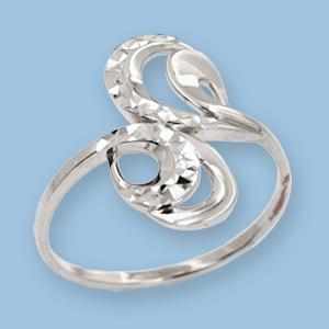 02010810-6 Серебряное кольцо