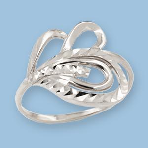 02010800-6 Серебряное кольцо
