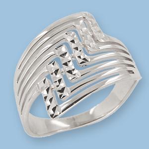 02010064-6 Серебряное кольцо