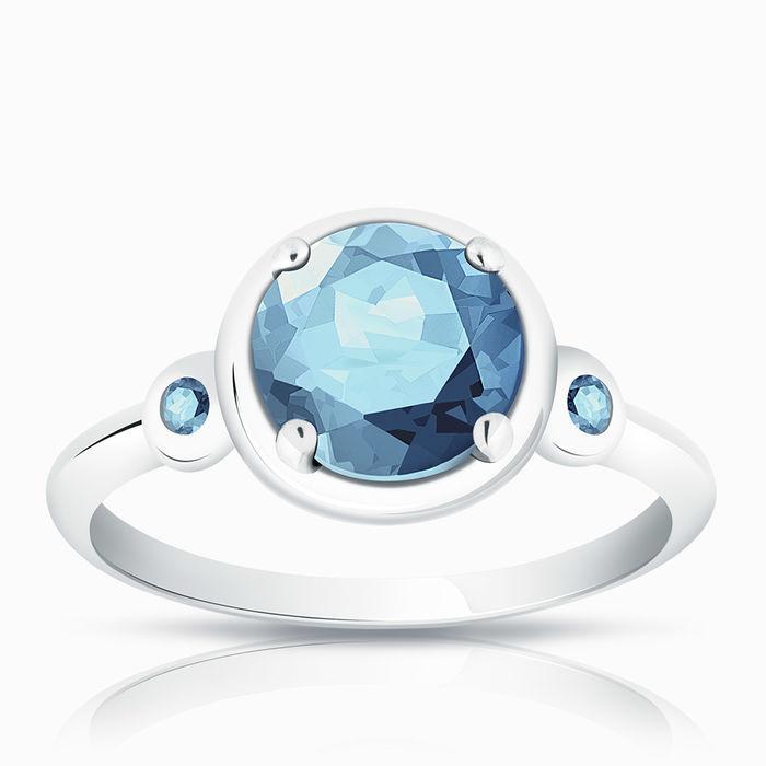 Серебряное кольцо Топаз арт. 00233 00233