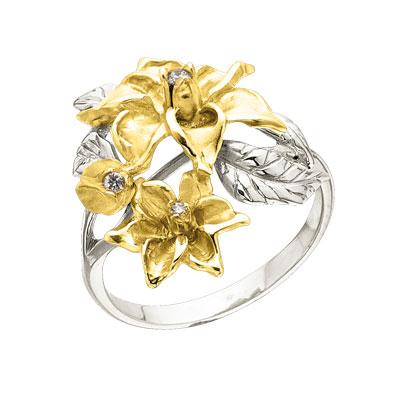 к-14044 Кольцо из лимонного золота