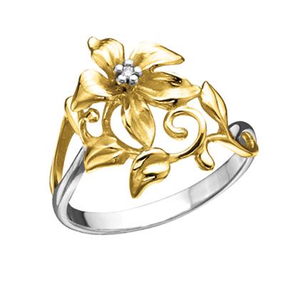 к-14047 Кольцо из лимонного золота