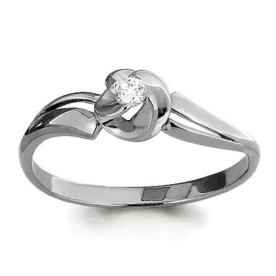 962116 Кольцо из белого золота