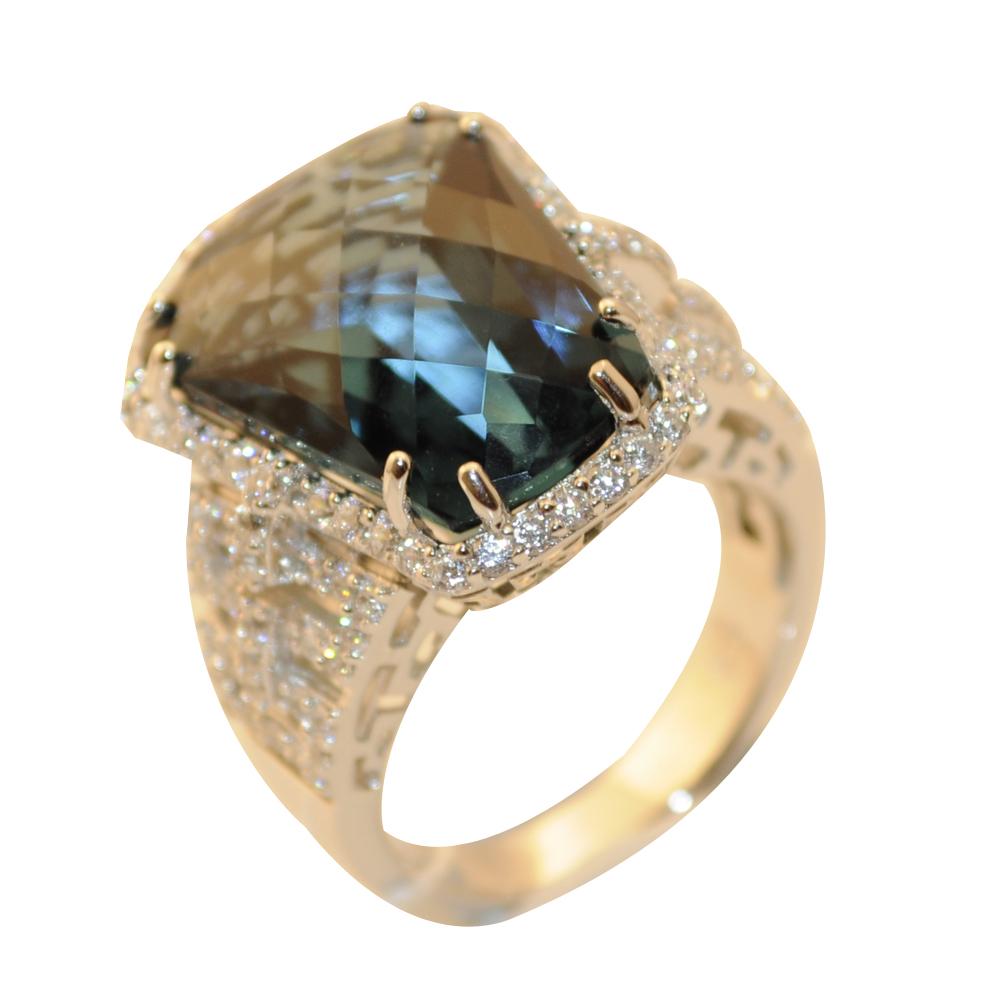 RDS128-55 Серебряное кольцо