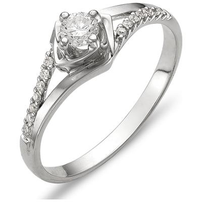 к210-661 Кольцо из белого золота