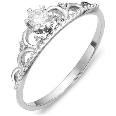 к210-1422 Кольцо из белого золота