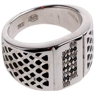 4к-5207-04 Мужское кольцо из серебра