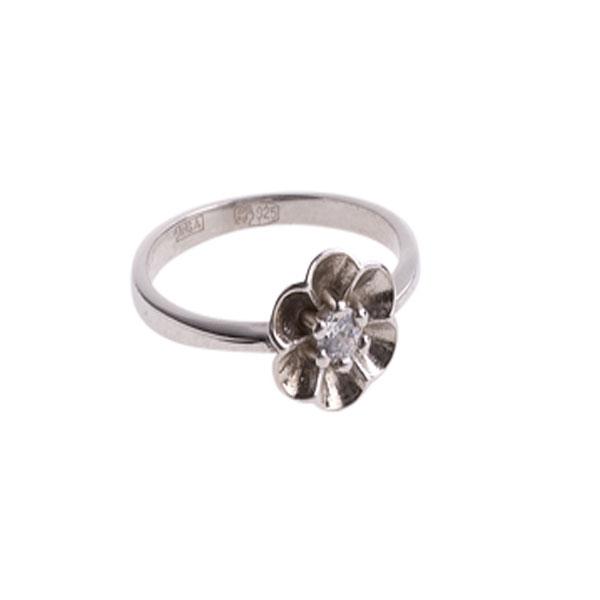 4к-5260-04 Серебряное кольцо