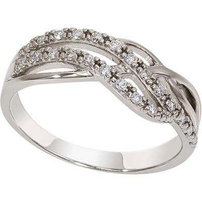 1018361-21140 кольцо из белого золота