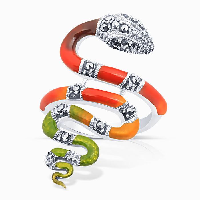 Серебряное кольцо Прочие и Эмаль арт. 04773 04773