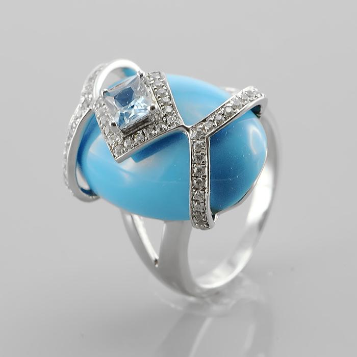 Серебряное кольцо Бирюза арт. adr909115 adr909115