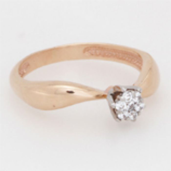 880146 Помолвочное кольцо из золота с бриллиантом