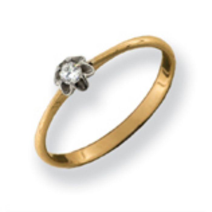 880113 Помолвочное кольцо из золота с бриллиантом
