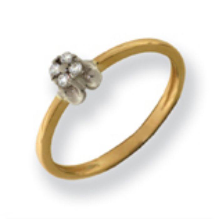 880110 Помолвочное кольцо из золота с бриллиантом