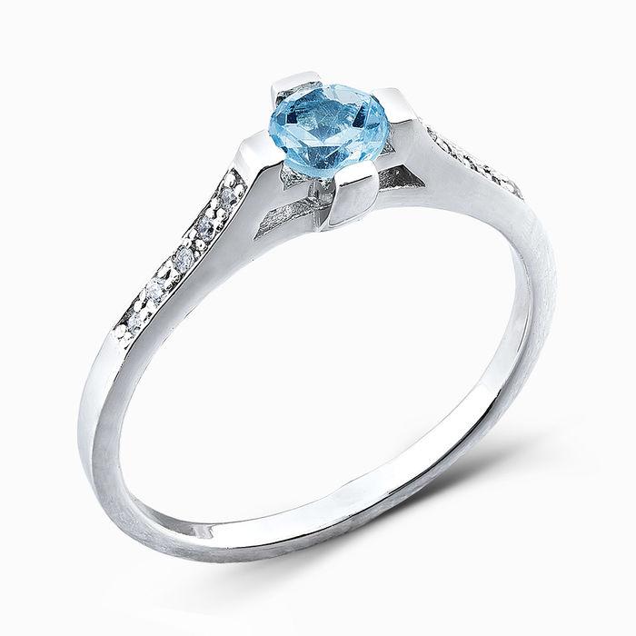 Серебряное кольцо Топаз и Фианит арт. 04789 04789
