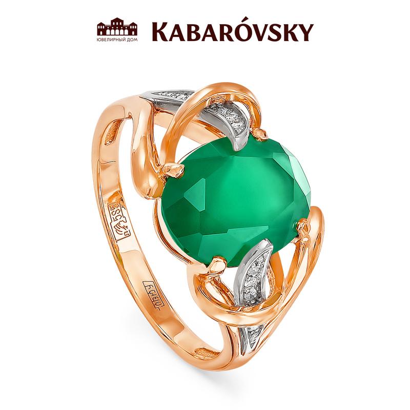 Золотое кольцо Бриллиант и Оникс арт. 11-0497 11-0497