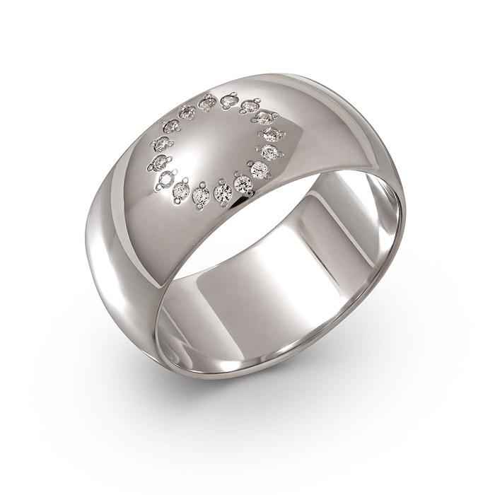 Обручальное кольцо из серебра с фианитом арт. g100-04-3-20-809ф161 g100-04-3-20-809ф161