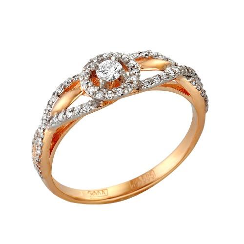 Кольцо из белого золота Бриллиант арт. 1-105-356 1-105-356