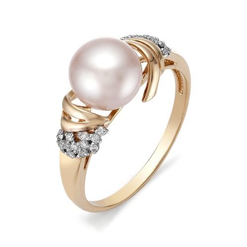 Золотое кольцо Бриллиант и Жемчуг арт. 1-105-751-28 1-105-751-28