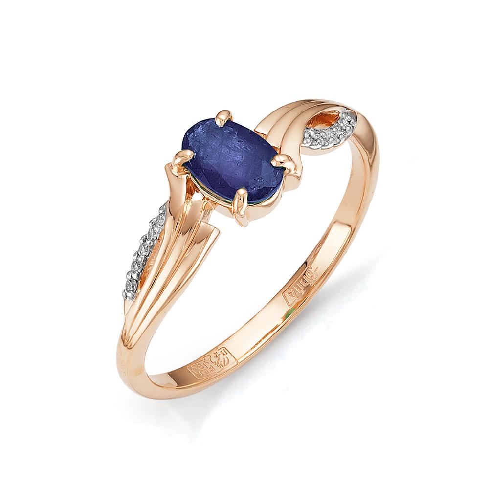 Золотое кольцо Бриллиант и Сапфир арт. 1-105-779-02 1-105-779-02