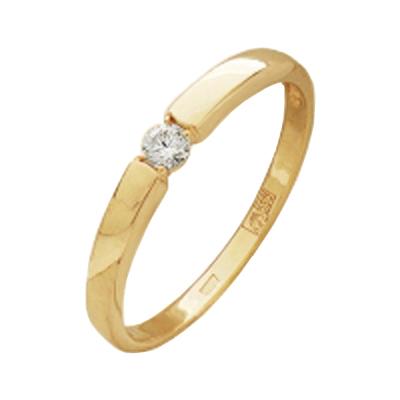 300-110 Помолвочное кольцо из золота с бриллиантом