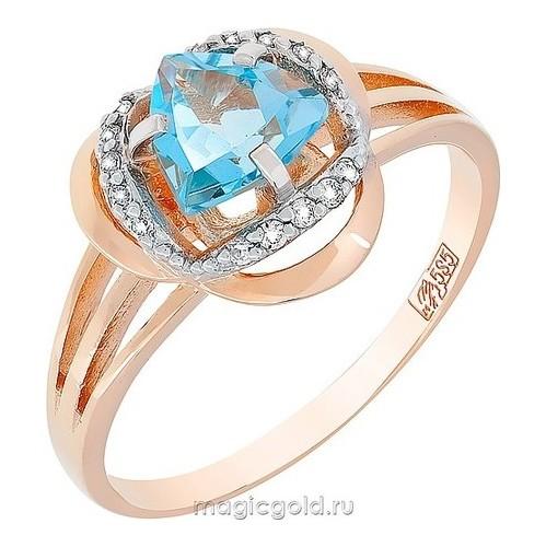 Золотое кольцо Топаз и Фианит арт. кл-468к-т кл-468к-т