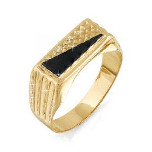040059 Золотая печатка с фианитом