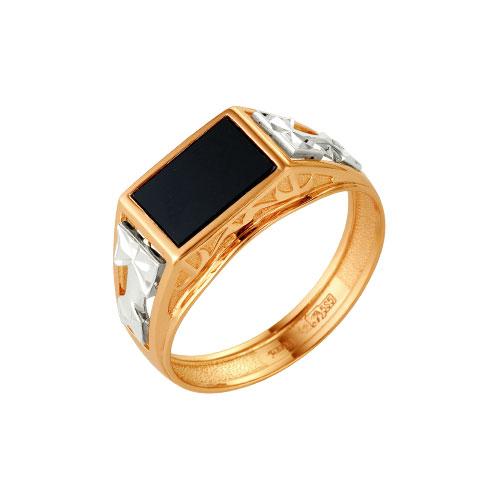 51-0078 Золотая печатка с ониксом